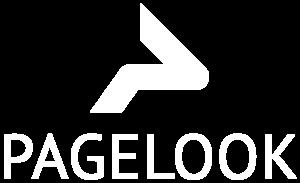 Pagelook logo white text below